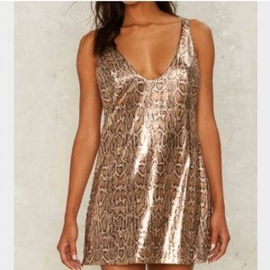 Nasty Gal   Sequins Cheetah Print Dress